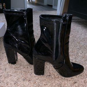 Aldo patent leather black boots